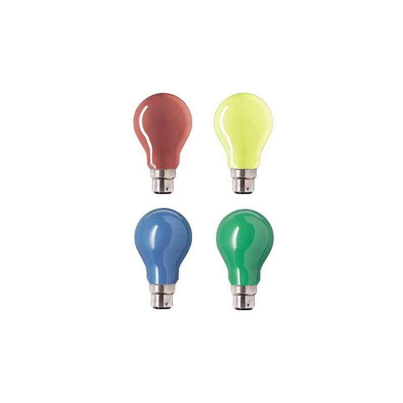 240V 25w BC COLOURED FESTOON LAMPS