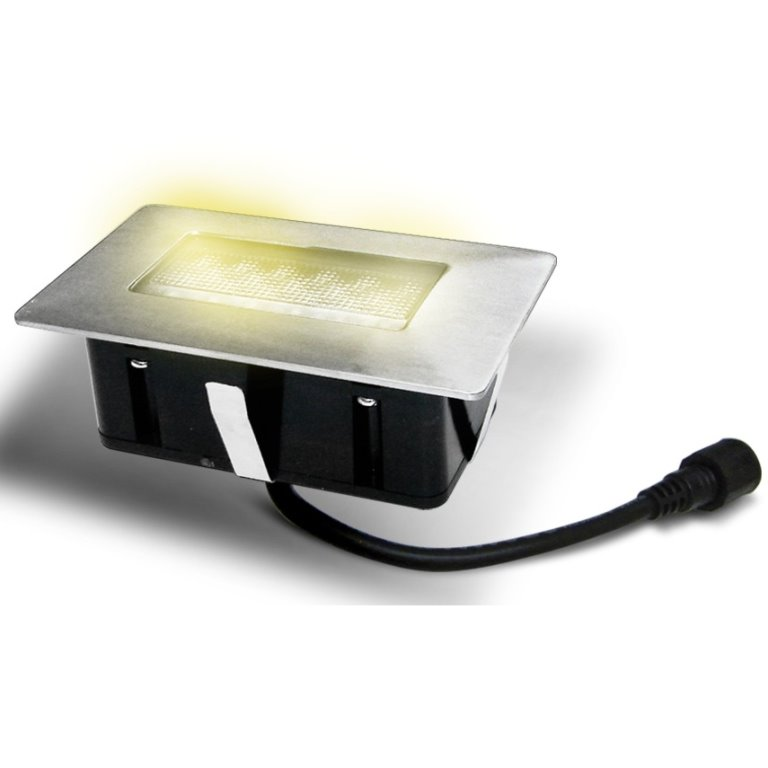 Easy Connect Rectangular Warm White Led Deck Light