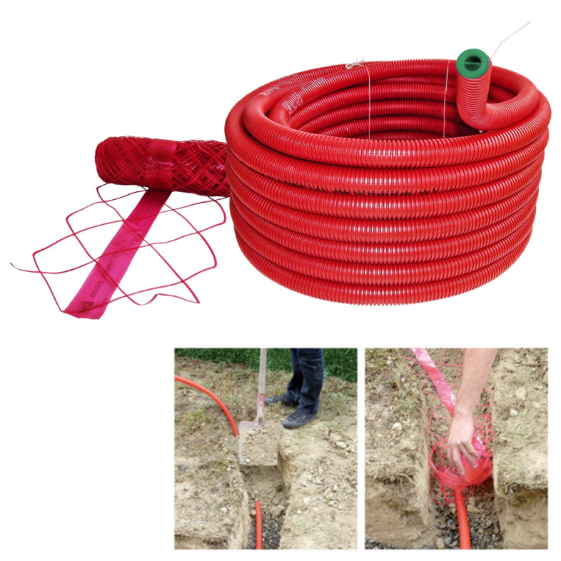 Easy Connect 25m Conduit With Warning Net