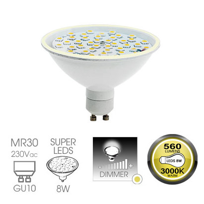 Easy Connect 8w GU10 Warm White Dimmable LED Lamp