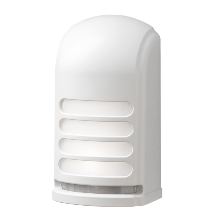 White Battery Operated LED Wall Light With Motion Sensor