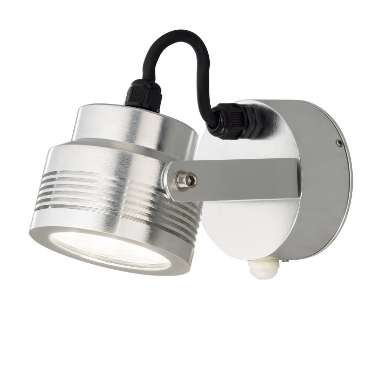 MONZA 7942 Adjustable LED Wall Spotlight with Motion Sensor