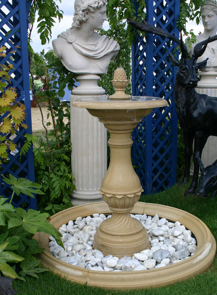 Firenze Garden Self Contained Fountain Centrepiece with Pool Surround & Pump