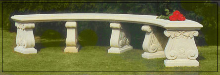 Double Curved Scrolled Bench Garden Ornament