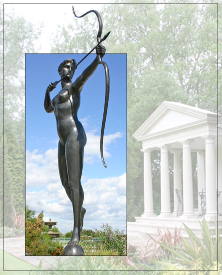 Diana The Huntress Bronze Garden Statue