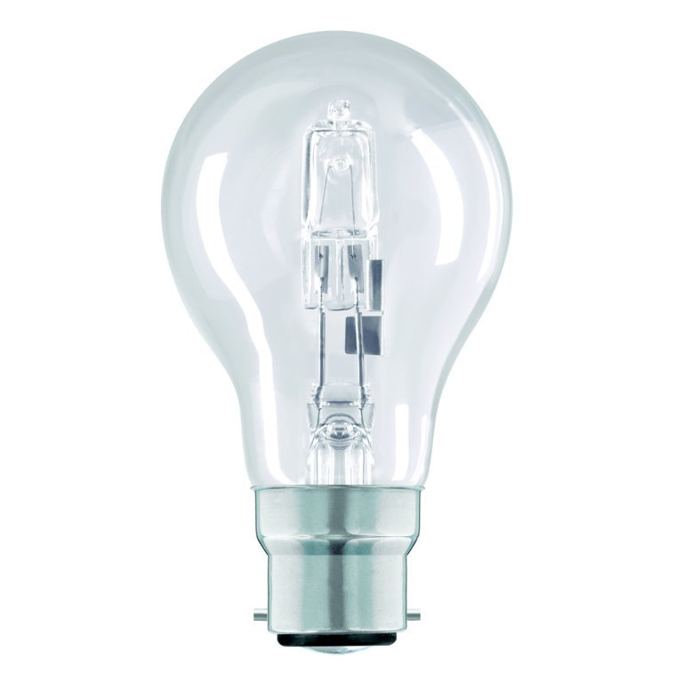 240v 28w BC Clear GLS Shape Halogen Lamp