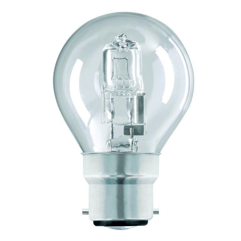 240v 18w BC Clear Round Halogen Lamp