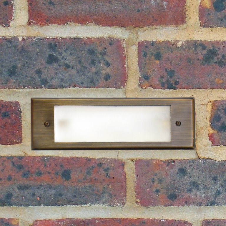12v Brass Recessed Brick Light