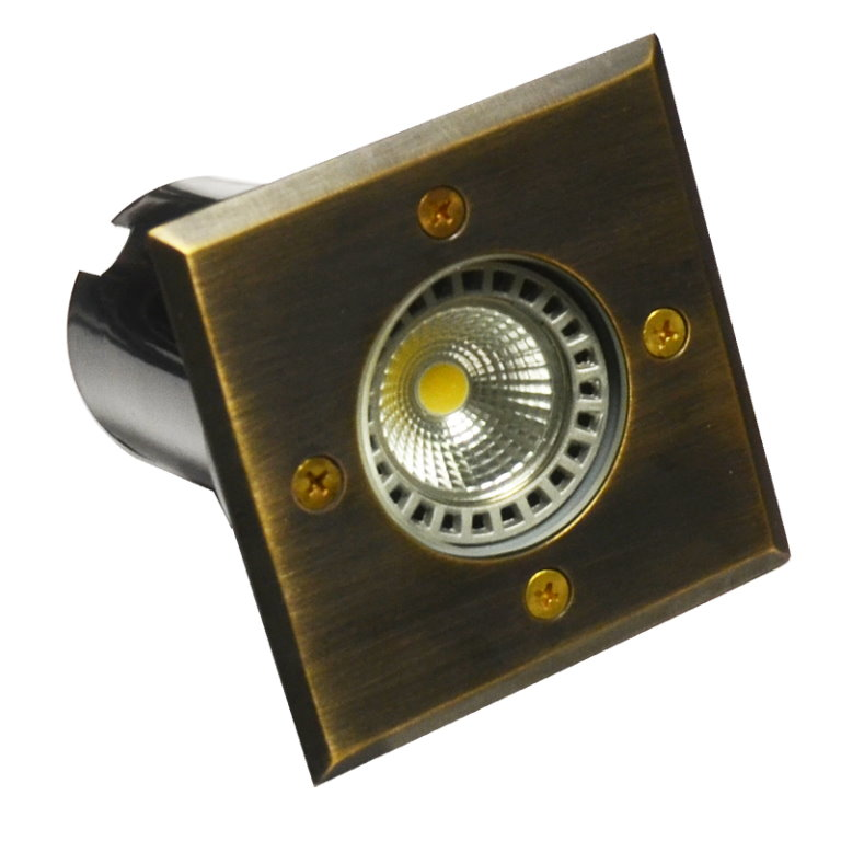 12v Brass Cubik Ground Light