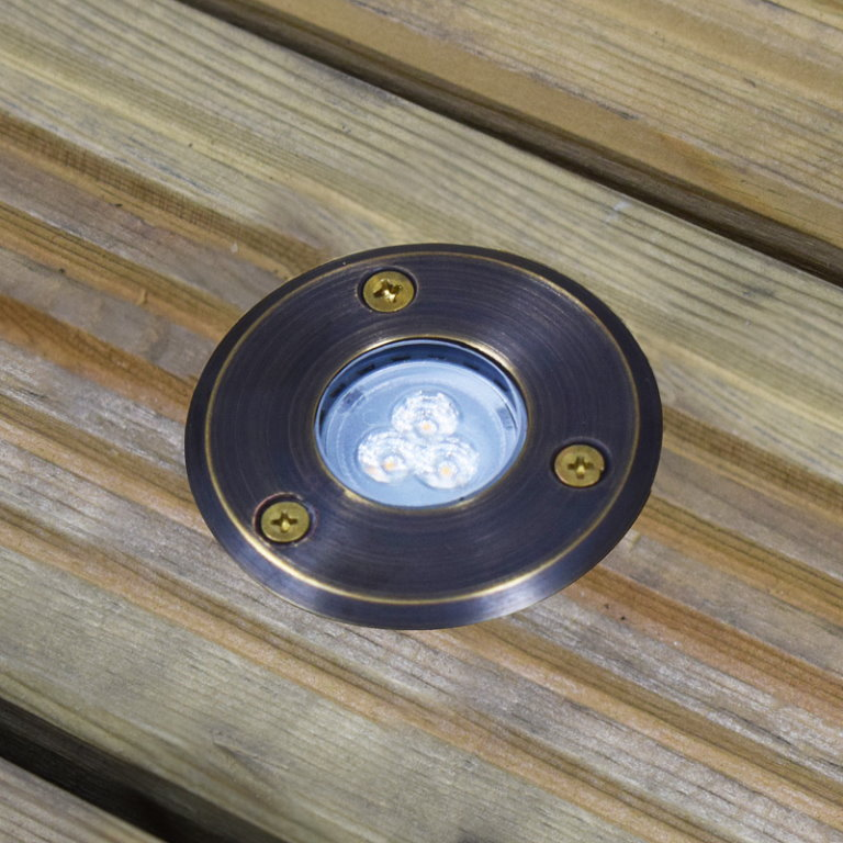 12v Brass Small Decimina Deck Light