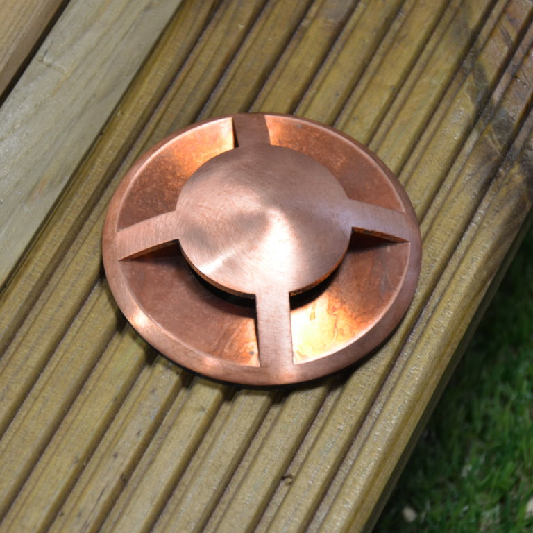 12v Copper Quadmarka 4way Recessed Garden Light