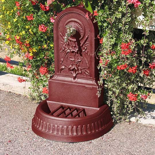 GHM Roseaux Wall Fountain with Brass Mallard Tap