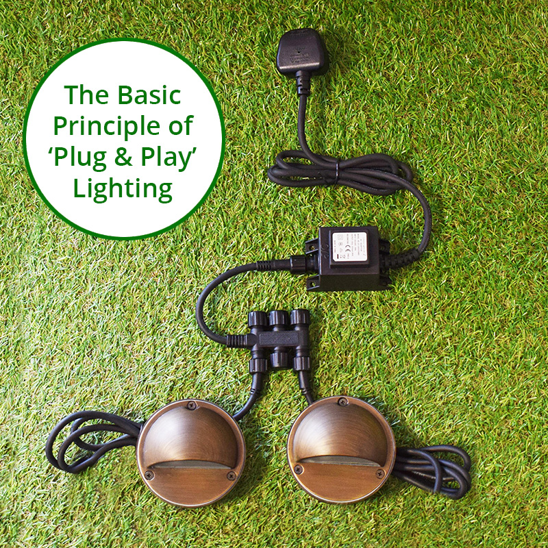 12V NO FUSS PLUG & PLAY CONNECTBLE GARDEN LIGHTING SYSTEM