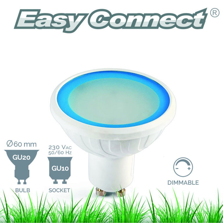 Easy Connect 4w GU10 Blue Dimmable LED Lamp