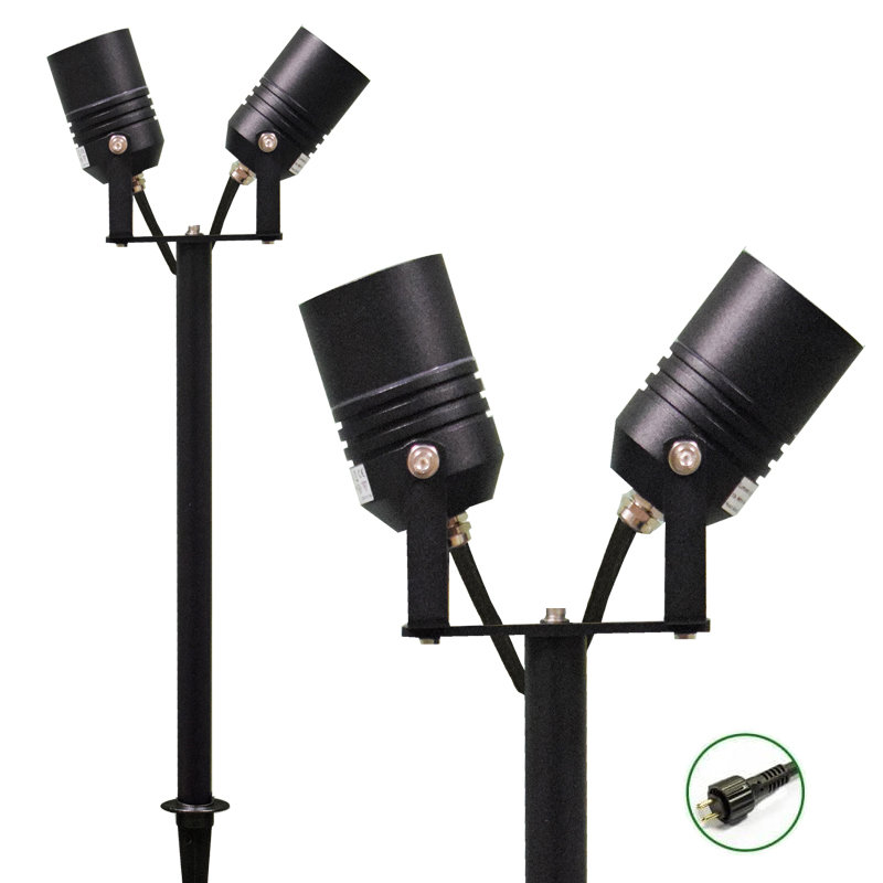 ALVA adjustable 12v Plug & Play Twin Garden Spike