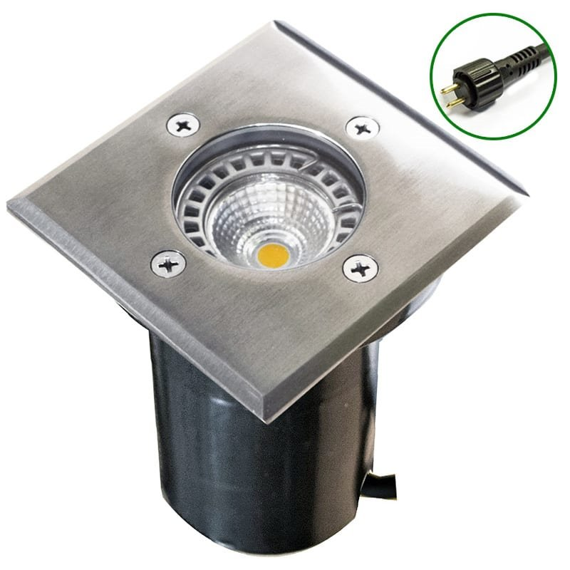 12v Plug & Play Square Deck and ground Light (2 Bezel Sizes)