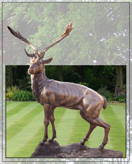Bronze Stag Garden Ornament