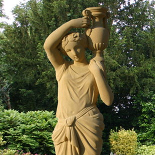 Grecian Girl with Ewer Garden Statue
