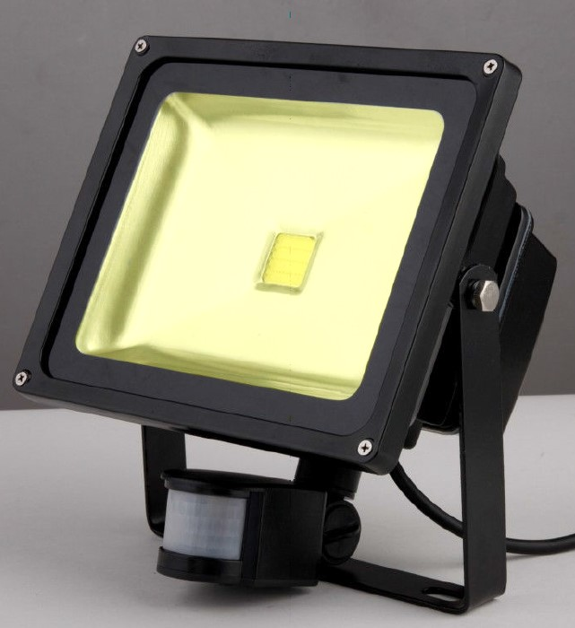 Shatter Resistant 50w LED Compact Floodlight with PIR
