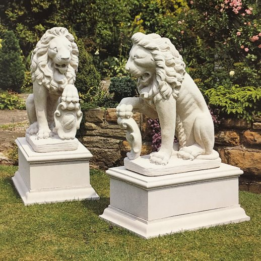 San Marco Reconstituted Stone Lions PURCHASE A PAIR AND SAVE 10%