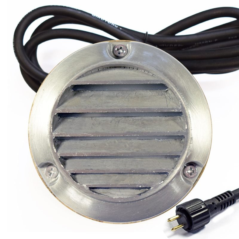 12v Aged Silver Plug & Play Surface Mounted Louvered Step Light