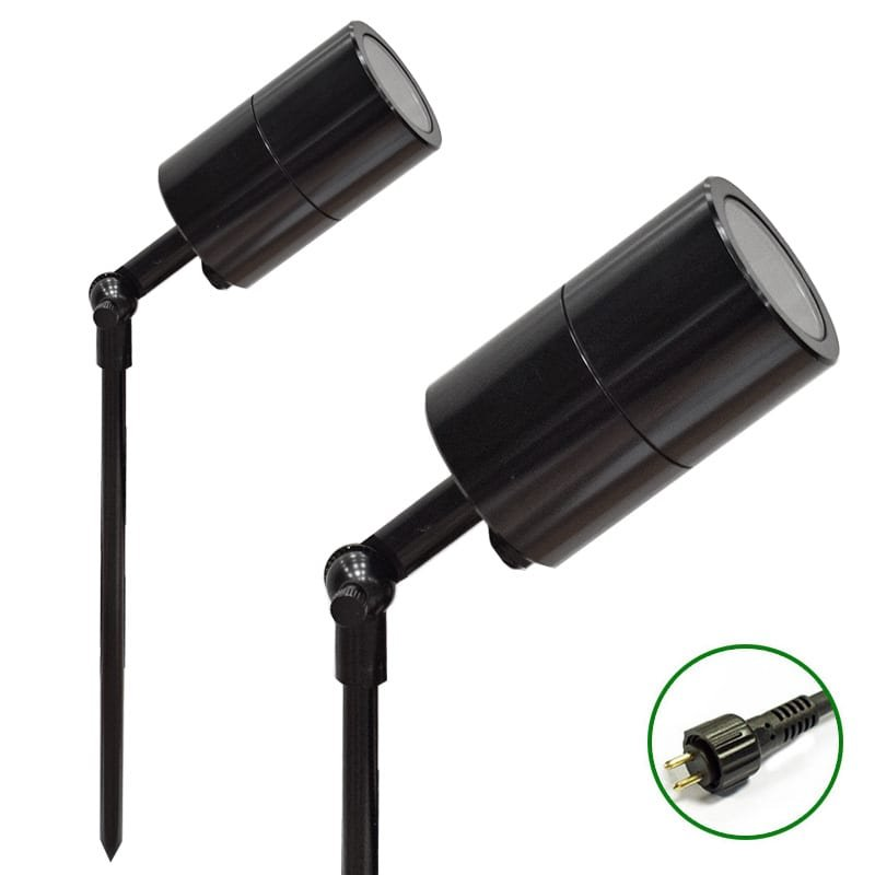 Ultra Spike Light 60 adjustable Black 12v Plug & Play Garden Spike