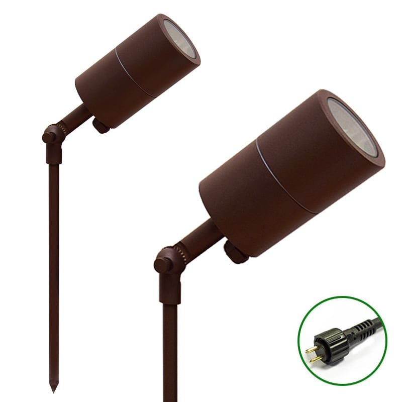Ultra Spike Light 60 adjustable Rustic Brown 12v Plug & Play Garden Spike