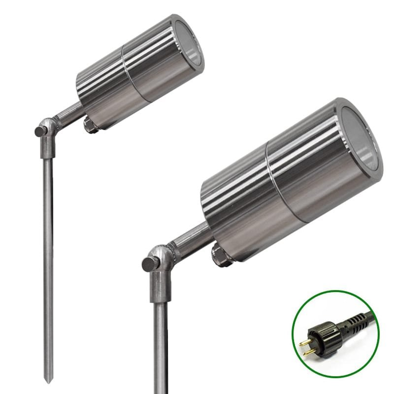 Ultra Spike Light 60 adjustable Titanium Finish 12v Plug & Play Garden Spike