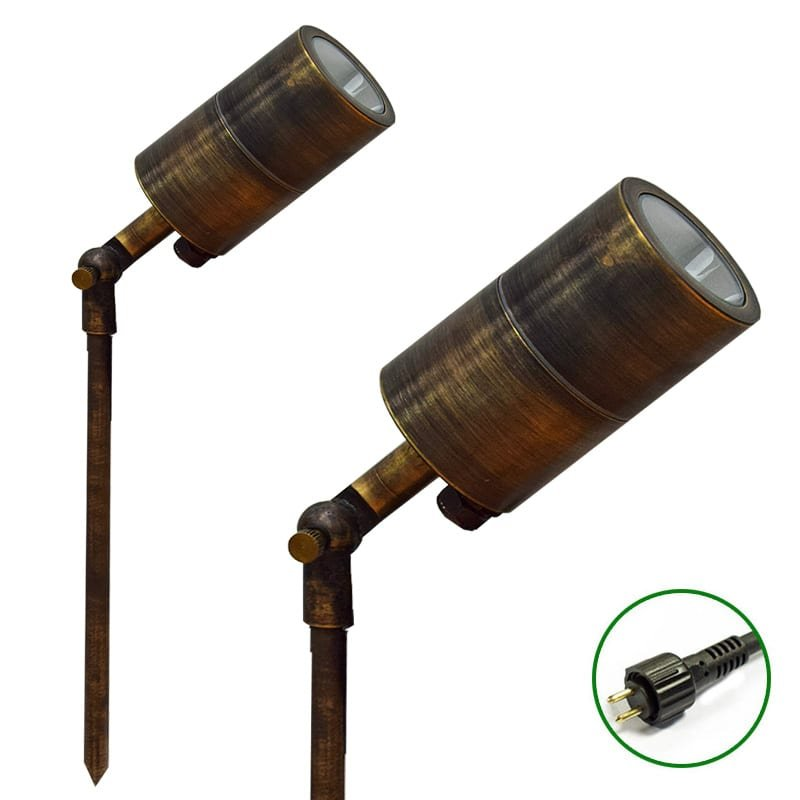 Ultra Spike Light 60 adjustable Rustic Bronze Finish 12v Plug & Play Garden Spike